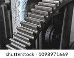 steel huge gear. flywheel from...   Shutterstock . vector #1098971669