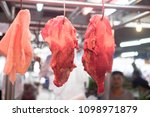 selling fresh meat at local... | Shutterstock . vector #1098971879