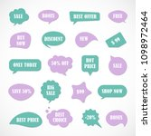 vector stickers  price tag ... | Shutterstock .eps vector #1098972464