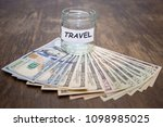travel budget concept. travel... | Shutterstock . vector #1098985025