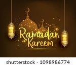 ramadan kareem islamic greeting ... | Shutterstock .eps vector #1098986774