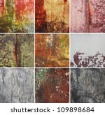 vintage abstract rusty colored... | Shutterstock . vector #109898684