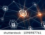 access control and cyber... | Shutterstock . vector #1098987761