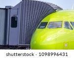 gangway for boarding passengers ... | Shutterstock . vector #1098996431