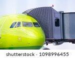 gangway for boarding passengers ... | Shutterstock . vector #1098996455