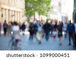 blurred abstract people crowd... | Shutterstock . vector #1099000451