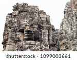 stone face tower of ancient... | Shutterstock . vector #1099003661