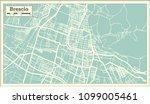 brescia italy city map in retro ... | Shutterstock .eps vector #1099005461