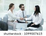 handshake of manager and client ... | Shutterstock . vector #1099007615