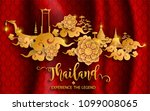 thailand travel concept the... | Shutterstock .eps vector #1099008065