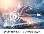 online internet secure payment... | Shutterstock . vector #1099014524