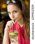 big glass of refreshment ... | Shutterstock . vector #109902509