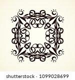 old cute romantic book ribbon... | Shutterstock .eps vector #1099028699