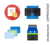 icons virtual reality with tap  ... | Shutterstock .eps vector #1099042565