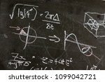 mathematical equations on a... | Shutterstock . vector #1099042721