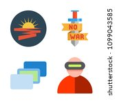 icons virtual reality with sun  ... | Shutterstock .eps vector #1099043585