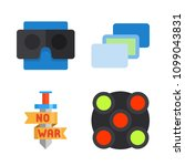 icons virtual reality with... | Shutterstock .eps vector #1099043831