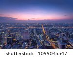 bangkok city night | Shutterstock . vector #1099045547