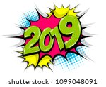 2019 happy new year christmas... | Shutterstock .eps vector #1099048091