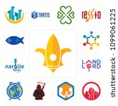 set of 13 simple editable icons ... | Shutterstock .eps vector #1099061225