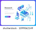 isometric flat research... | Shutterstock .eps vector #1099062149