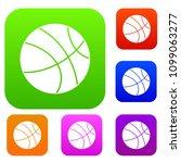 basketball ball set icon color... | Shutterstock . vector #1099063277