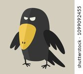 vector icon ominous black raven.... | Shutterstock .eps vector #1099092455