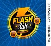 flash sale banner template...   Shutterstock .eps vector #1099092974