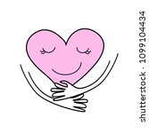 heart holding with two hands...   Shutterstock .eps vector #1099104434
