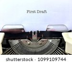first draft  author s... | Shutterstock . vector #1099109744