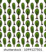 trees seamless pattern vector... | Shutterstock .eps vector #1099127501