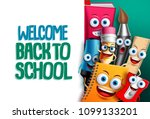 back to school vector... | Shutterstock .eps vector #1099133201
