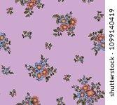 seamless flower fashion vector...   Shutterstock .eps vector #1099140419
