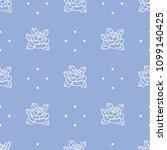seamless flower fashion vector...   Shutterstock .eps vector #1099140425