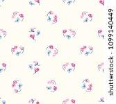 seamless flower fashion vector...   Shutterstock .eps vector #1099140449