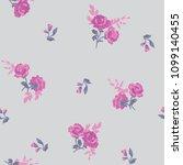 seamless flower fashion vector...   Shutterstock .eps vector #1099140455