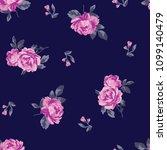 seamless flower fashion vector...   Shutterstock .eps vector #1099140479
