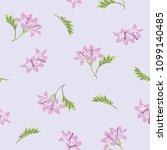 seamless flower fashion vector...   Shutterstock .eps vector #1099140485