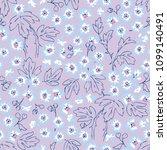 seamless flower fashion vector...   Shutterstock .eps vector #1099140491