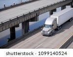 big rig beige american bonnet... | Shutterstock . vector #1099140524
