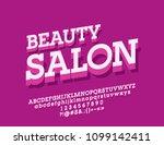 vector bright logo beauty salon....   Shutterstock .eps vector #1099142411