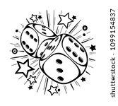 dice gambling vector template... | Shutterstock .eps vector #1099154837