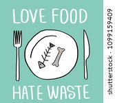 stop wasting food color vector... | Shutterstock .eps vector #1099159409