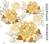 chinese floral pattern vector.... | Shutterstock .eps vector #1099163555