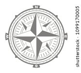 vector icon with compass rose... | Shutterstock .eps vector #1099170005