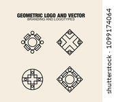 geometric modern vector logos... | Shutterstock .eps vector #1099174064