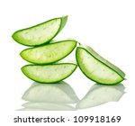 Aloe Vera Fresh Leaf. Isolated...