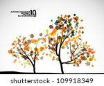 Autumn Tree Background  Eps10