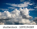 white clouds against the blue...   Shutterstock . vector #1099194389