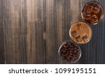black iced coffee  cold latte ... | Shutterstock . vector #1099195151
